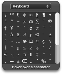 Special Characters Widget for Mac