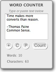 Word Counter Widget for Mac