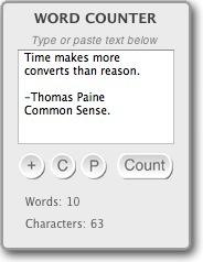 Word Counter Widget for Mac